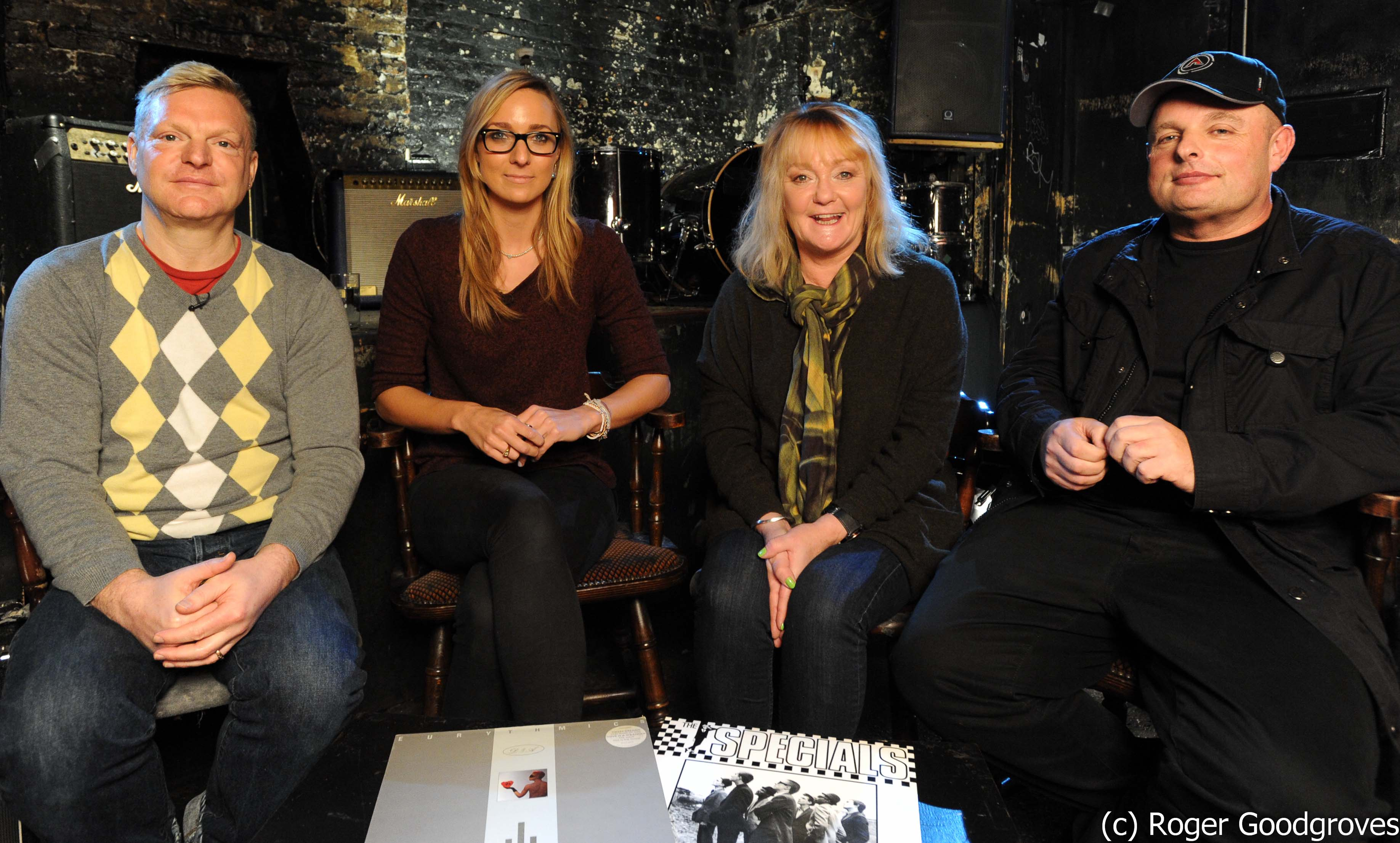 Andy Bell, Emma Stevens and DJ Dave Pearce on the Janice Long Review Show for Vintage TV at the 12 Bar Club London