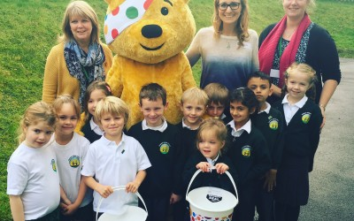 Emma visits 6 Infant Schools to Raise Money for Children in Need!