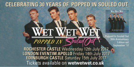Wet Wet Wet support this summer!!